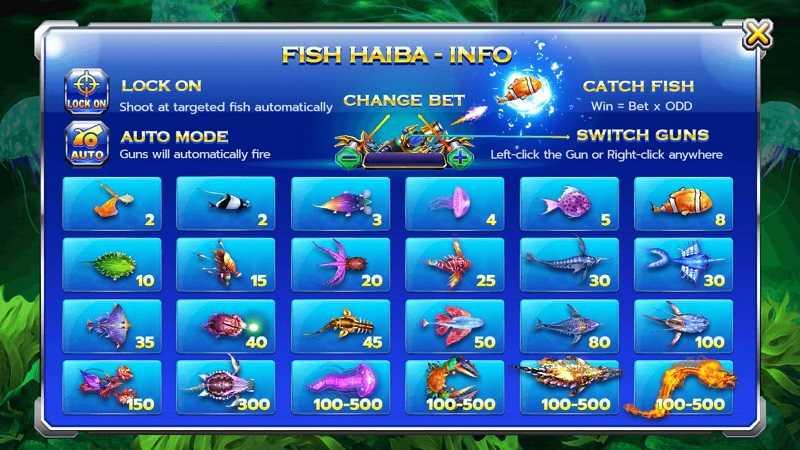เกมยิงปลา Fish hunter hai ba เล่นพนันบอลออนไลน์